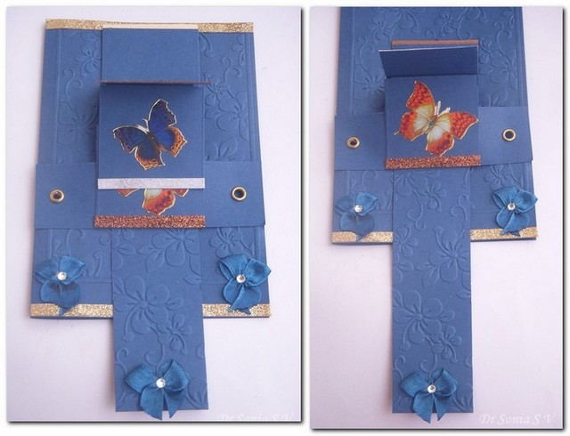 Cards Crafts Kids Projects Waterfall Card Tutorial From A Single A 4