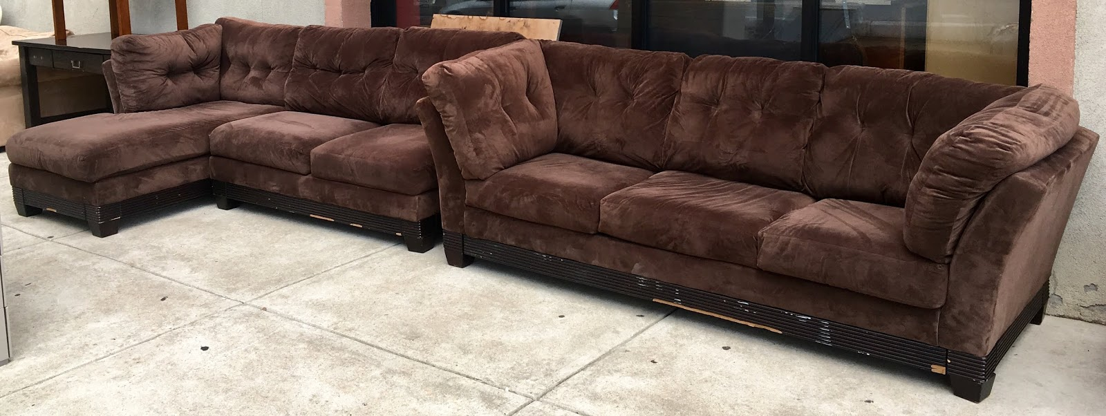 Tremendous Uhuru Furniture Collectibles Dark Brown Tufted 2 Piece Ncnpc Chair Design For Home Ncnpcorg
