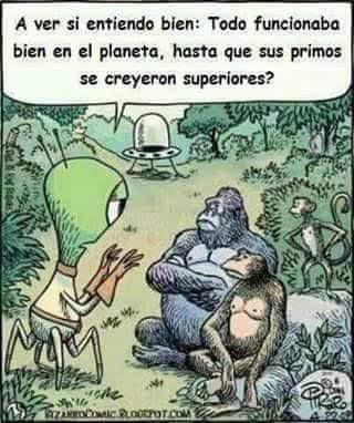 Meme de humor sobre la evolución