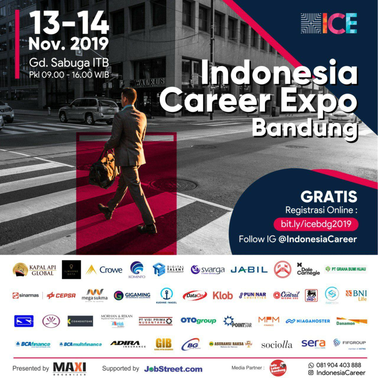 Indonesia Career Expo Bandung 13-14 November 2019