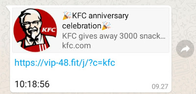 Giveaway Snack KFC Gratis