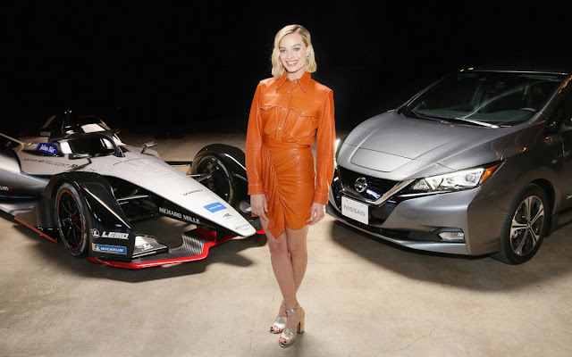 Margot Robbie In Isabel Marant – Nissan Formula E Launch Tour
