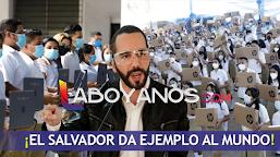 El 100% de los estudiantes del Salvador reciben computador gratis para su educación