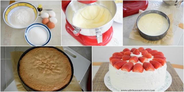 Pastel de fresas y nata montada paso a paso