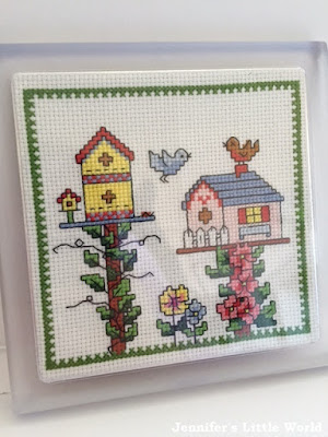Small birdhouse cross stitch project