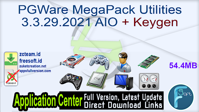 PGWare MegaPack Utilities 3.3.29.2021 AIO + Keygen
