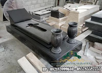 Contoh Model Kuburan Katolik | Kuburan Kristen Minimalis dengan Vas Air