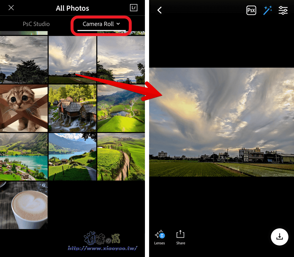 Photoshop Camera 以 AI 自動調整照片