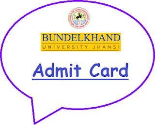BU Jhansi Admit Card 2019
