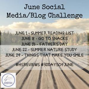 June Social Media/Blog Challenge info graphic