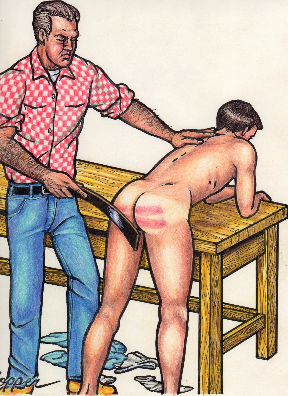 Gay spanking drawings and art hot emo boy 9