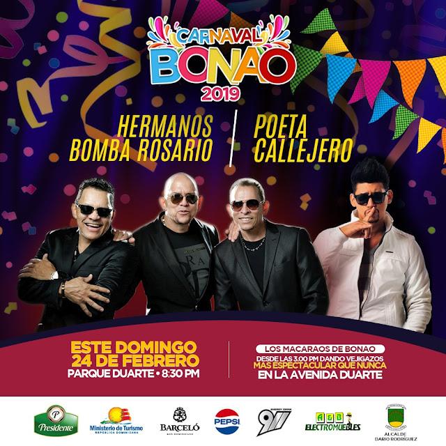 Bonao sigue de fiesta  carnavalesca este domingo 24