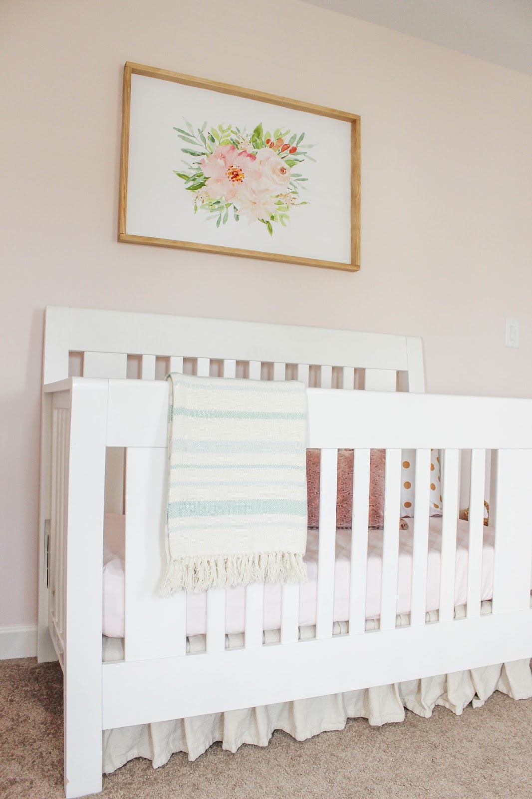 drop cloth crib skirt DIY