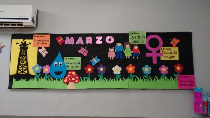 13 peri dicos murales de marzo y primavera educaci n for Mural de fotos en cartulina