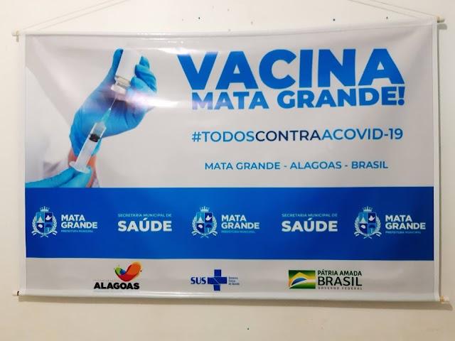 Mata Grande lança campanha de vacinação para imunização do COVID-19