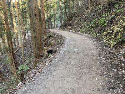 path leading to Jigokudani Yaen-Koen Snow Monkey Park in Nagano, Japan