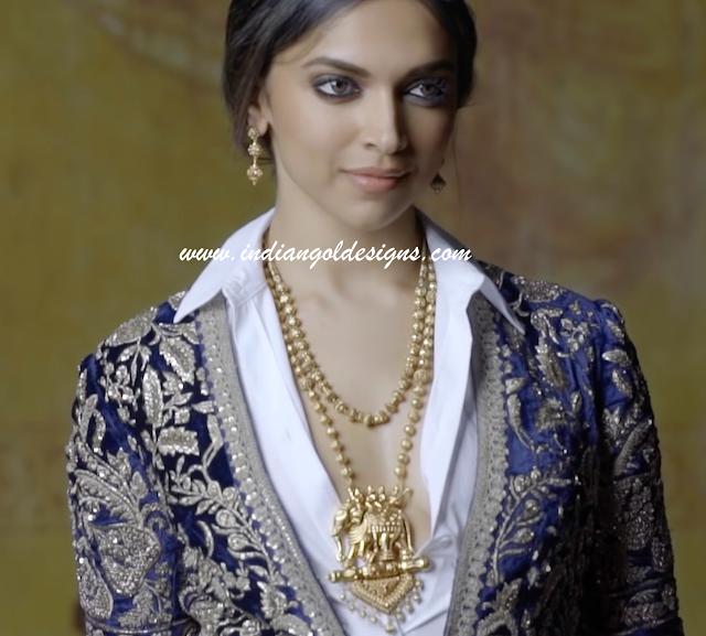 Gold and Diamond jewellery designs: deepika padukone in ...