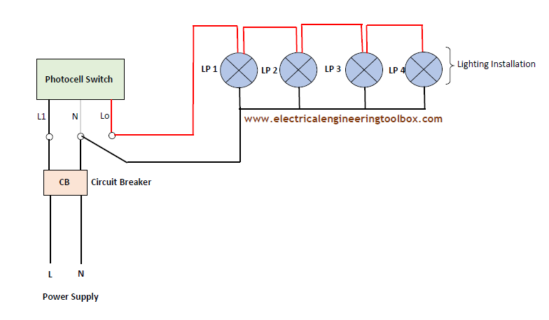 Dusk To Dawn Light Wiring Diagram Bobcat T190 How Size A Photocell For Lighting Installation ~ Learning Electrical Engineering