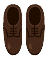 上から見た靴のイラスト(革靴)