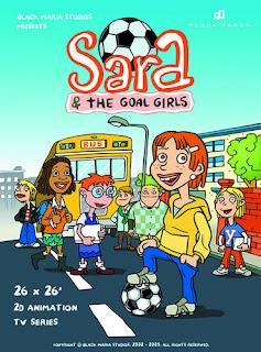 """Cartel de la serie de televisión """"Sara y las goleadoras"""""""