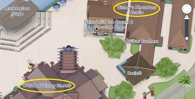 Localização do Photo Pass na Disney Springs