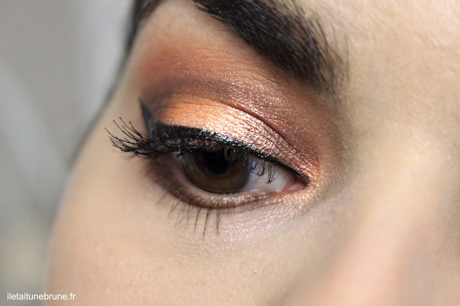 tangerine & rust makeup