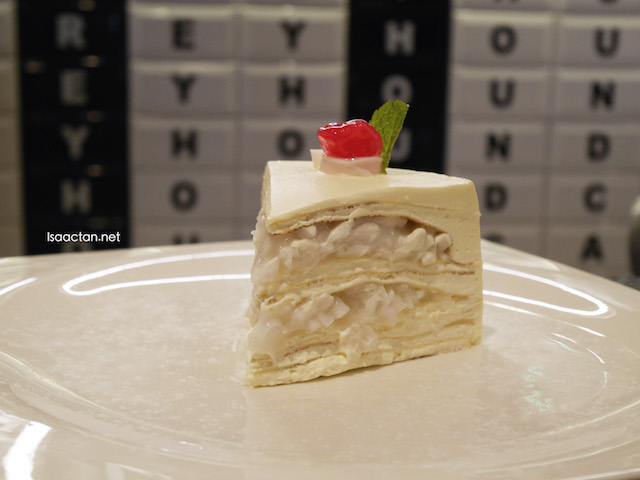 Fresh Coconut Crepe Cake - RM 22