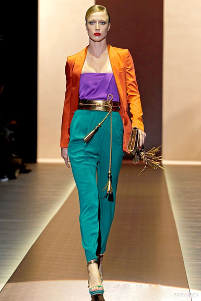 My Favorite Look Hands Down For The Split Complementary Color Scheme Has Got To Be This One From Gucci Spring 2011 Collection