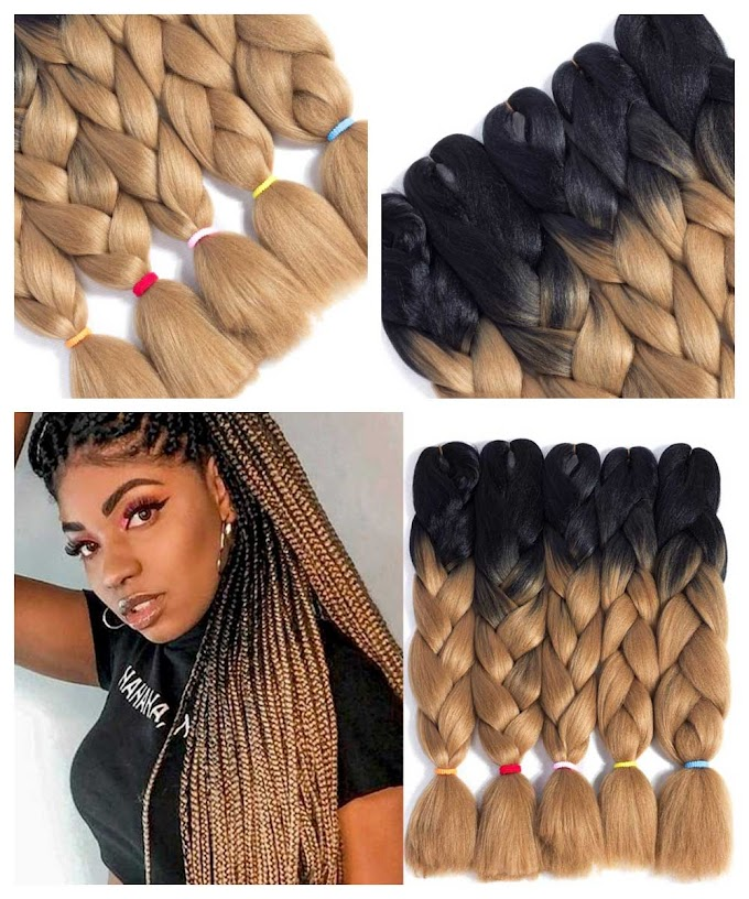 Box Braids Blonde and Black