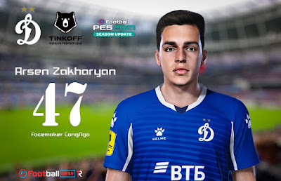 PES 2021 Faces Arsen Zakharyan by CongNgo