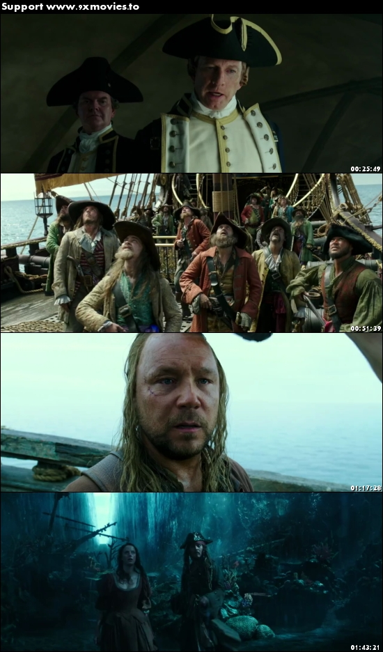 Pirates of the Caribbean Dead Men Tell No Tales 2017 Dual Audio Hindi 480p HDRip 400MB