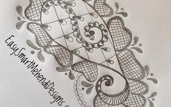 Peacock Flower Motif Tattoo Design