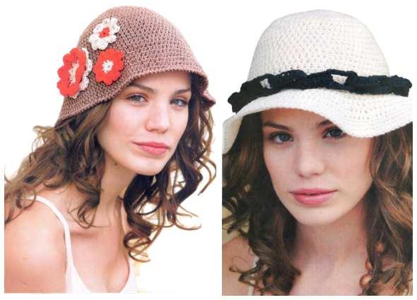 sombreros ganchillo, sombreros crochet, patrones tejidos
