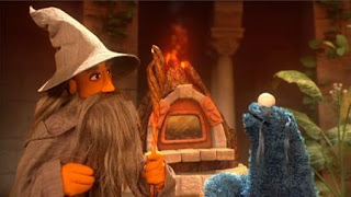 Cookie's Crumby Pictures Lord of the Crumbs, cookie monster, Sesame Street Episode 4415 Rosita's Abuela season 44