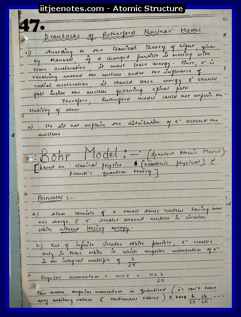 Atomic Structure Notes cbse4