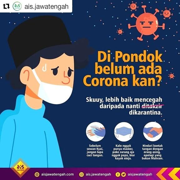 Bocah Renyah Tetap Sehat Dan Waspada Virus Corona Di Pondok Pesantren