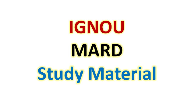 IGNOU MARD Study Material