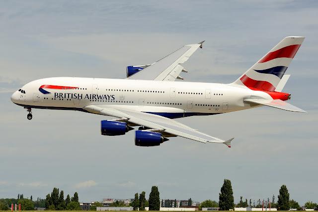 British Airways Airbus A380-800 Slight Rolling Maneuver