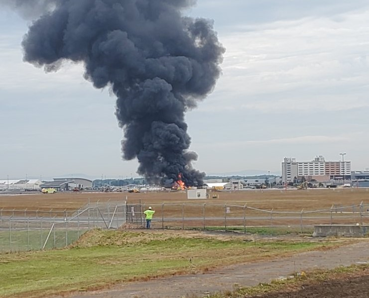 Bradley International Airport: Rescues Underway After B17 Crash Leads To Fire