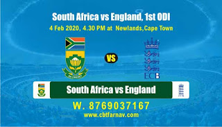 Today Match Prediction England vs South Africa 1st ODI 100% Sure