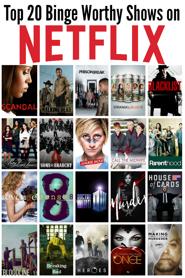 Top 20 Binge Worthy Shows on Netflix