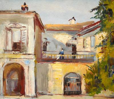 Carlo Stragliati - dipinto a olio su tavola