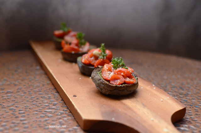 The X's Cherry Tomato Bruschetta