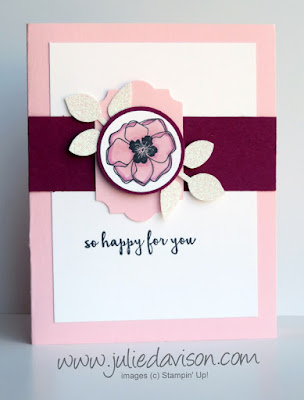Stampin' Up! Color Me Happy Flower Card ~ Stampin' Blends ~ www.juliedavison.com