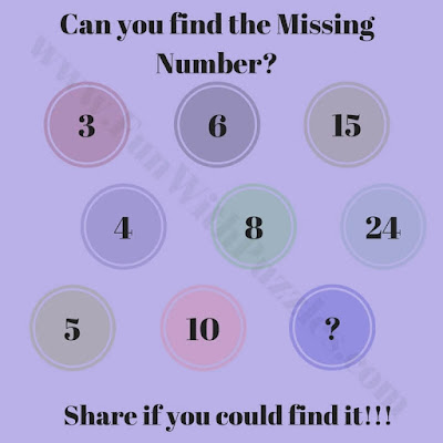 Find the Missing Number in Circle Puzzle