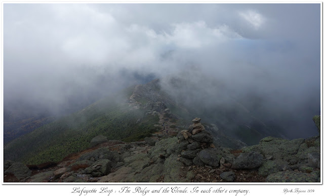 Lafayette Loop: The Ridge and the Clouds. In each other's company.
