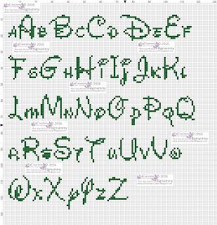 Amorevitacrocette alfabeti disney a punto croce for Lettere a punto a croce