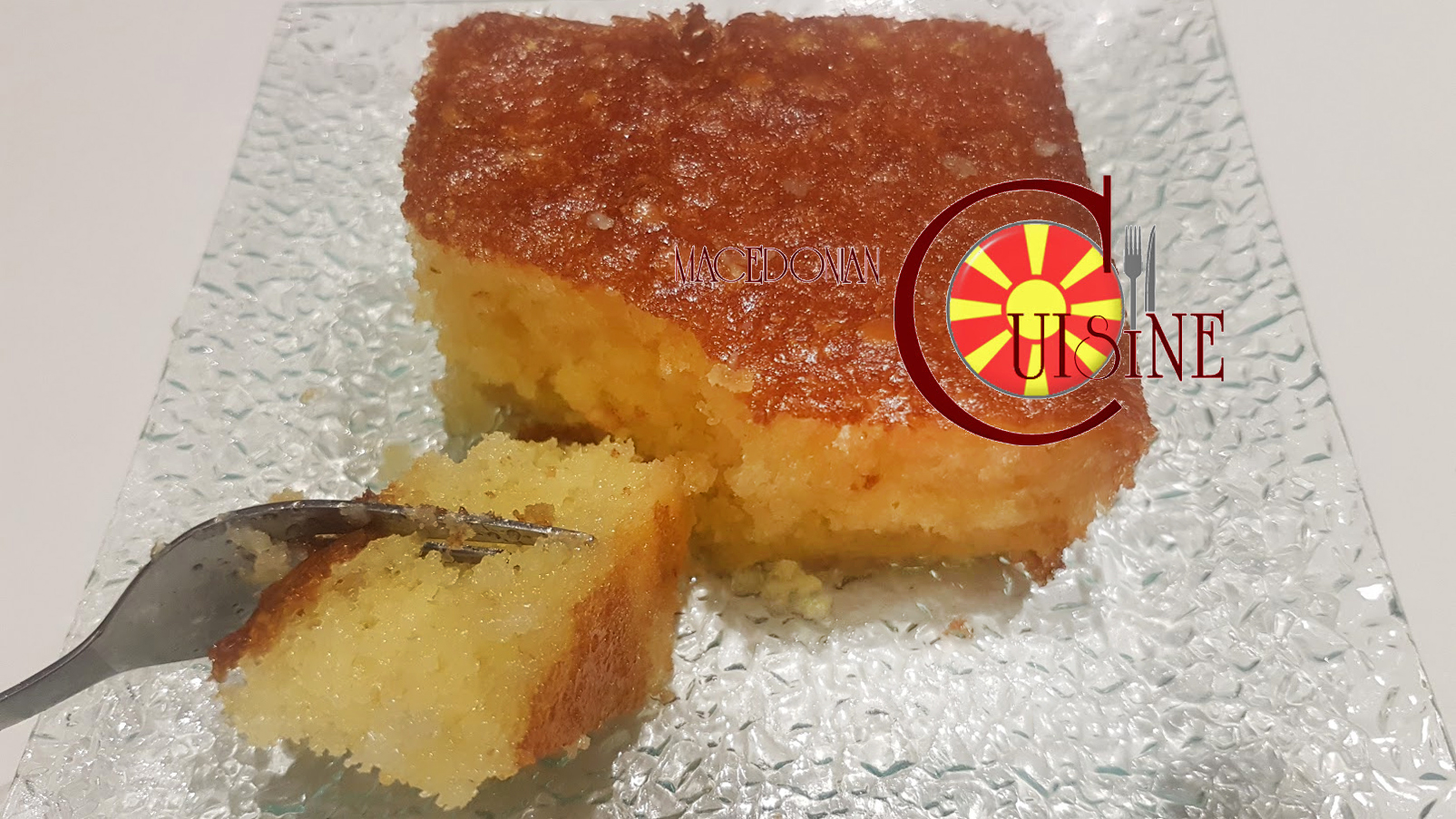 Ravanija Dough Covered With Sherbet Macedonian Cuisine