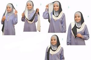 Cara memakai hijab 2