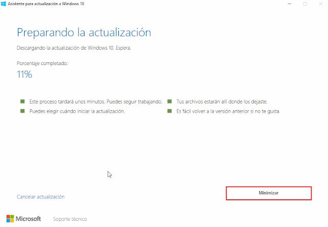 asistente de actualización para Windows 10 aniversario
